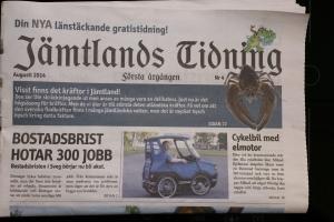 Jämtlands tidning framsida